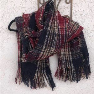 Rue21 Red and Blue Scarf
